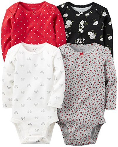 Carter's Baby Girls Multi-Pk Bodysuits 126g458, Assorted, 12M