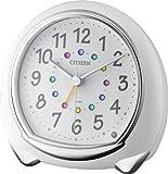 CITIZEN キラリと可愛い目覚し時計 アピスコ 白色 8RE653-003