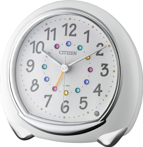 CITIZEN and cute alarm clock アピスコ white 8RE653-003