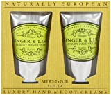 Naturally European Hand and Foot Collection, Ginger and Lime 75 ml - Pack of 2
