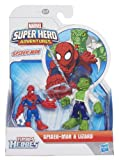 Playskool Marvel Super Heroes Figure Spider-Man and Lizard (Pack of 2)