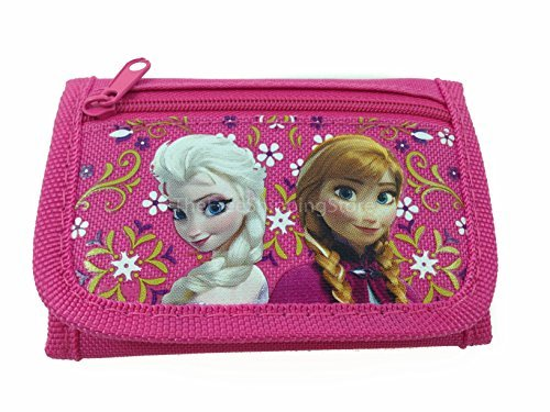 Disney Frozen Elsa & Anna Hot Pink Tri-fold Wallet - 1