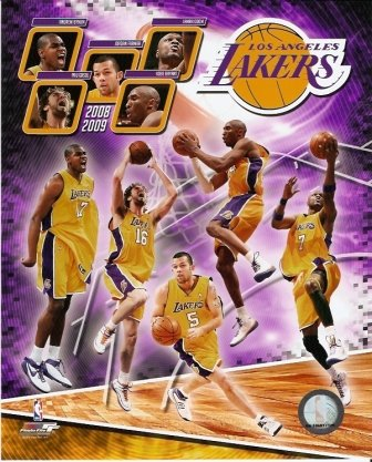 Los Angeles Lakers 2008-09 Starting Five 8x10 Photo (Phot Display compare prices)