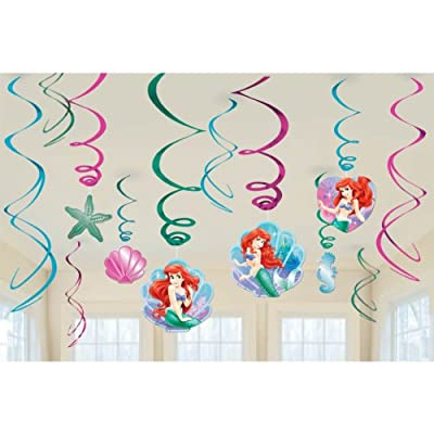 Little Mermaid Swirl Decorations (12) Ariel Ocean Girl Birthday Party Supplies