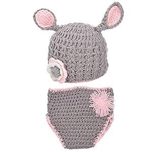 Cute Baby- Gorro Ropa de Conejo Gris bebé para fotografía 19x16cm 23x21cm marca Best Shopping - Bebe Hogar