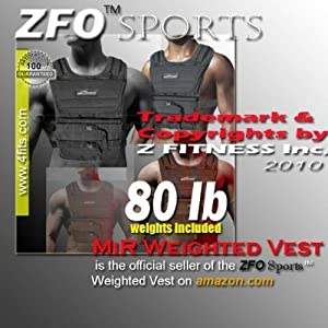 (Holiday Sale) NEW! ZFO-80LBS Adjustable Weighted Vest (WEIGHTS INCLUDED.One size fits all.)