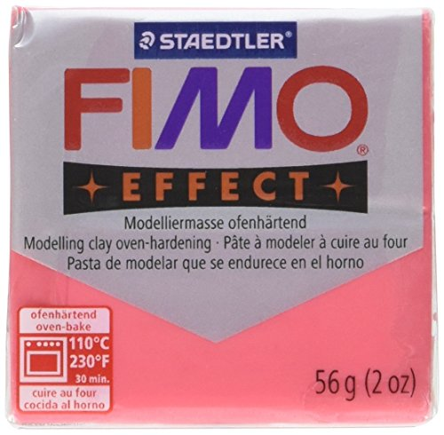 Fimo Soft Polymer Clay 2 Ounces-8020-204 Transparent Red (Polymer Clay Fimo Classic compare prices)