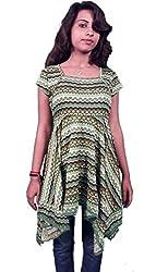 Miraaya Women's Tunic (M2429C_74660_Green_X-Large)