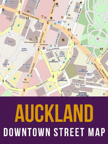 Auckland, New Zealand Downtown Street Map