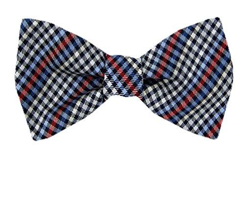 Fbtt-11145 - Gray - Black - Blue - Red - Mens Big And Tall Silk Self Tie Bow Tie