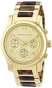 Damen-Armbanduhr Runway Chronograph Quarz verschiedene Materialien MK5659