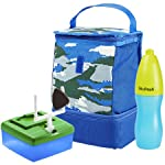 Austin Kids' Lunch Bag Kit with Water Bottle (Blue Camo)