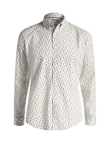Esprit Mens Floral Print Shirt In 100% Cotton 100% Cotton
