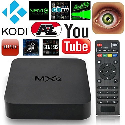 MXQ Android 4.4.2 Quad Core Smart TV Box Mini PC Streaming Media Player- Ultra HD  - Internet 1080p HD WiFi Streaming Video Player- KODI/XBMC (MXQ 1GB RAM,8GB ROM) (Android Boxes compare prices)