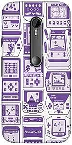 Snoogg Video Gamer'S Dream Designer Protective Back Case Cover For Motorola G...