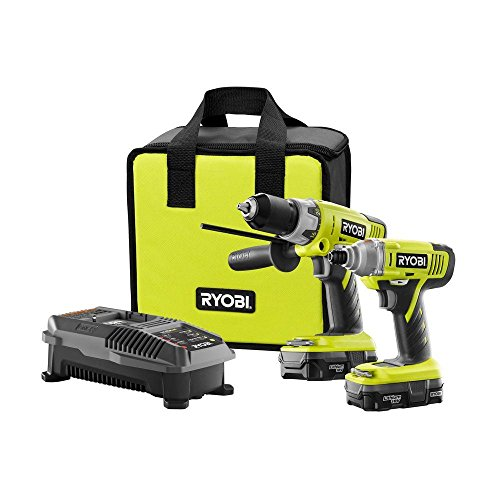 Ryobi P898 18-Volt Lithium-Ion Cordless Hammer Drill And Impact Driver Combo Kit
