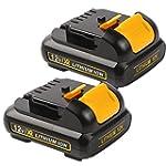 Enegitech 2 Pack Battery Pack for Dew...