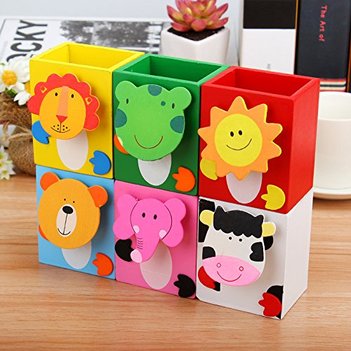 Infinxt Colorful Wooden Animal Design Pen Pencil Stationary Stand For Birthday Return Gift Set Of 6599 Rs Mrp 599