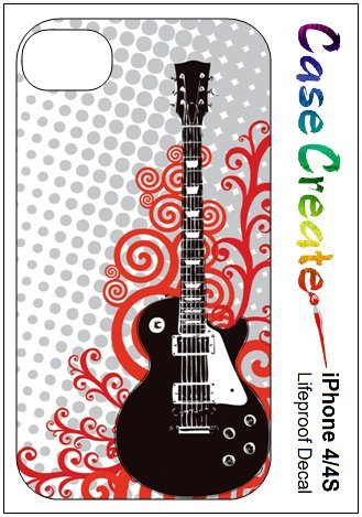 Electric Guitar Decorative Sticker Decal For Your Iphone 4 4S Lifeproof Case