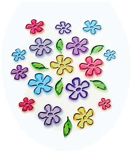 V6V0100500 Flowers 5 WC Decor- WC-Deckel Sticker , Aufkleber, Baddekoration