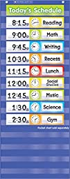Scholastic Teacher\'s Friend Schedule Cards Pocket Chart Add-ons, Multiple Colors - Chart not included (TF5405)