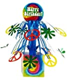 Creative Converting Tie Dye Fun Mini Cascading Centerpiece Party Decoration