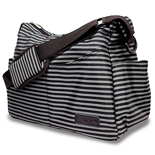 diaper bag by aerobaby for mom dad on the go messenger style tote w adjustable crossbody. Black Bedroom Furniture Sets. Home Design Ideas