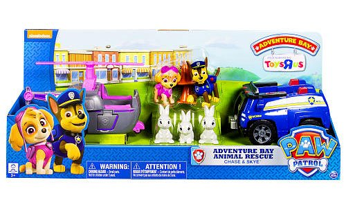 Paw Patrol Adventure Bay Rescue Animal Rescue Set Chase and Skye