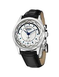 Vulcain Aviator GMT 2009 Men's Silver Dial Mechanical Alarm Watch 100135.217LF