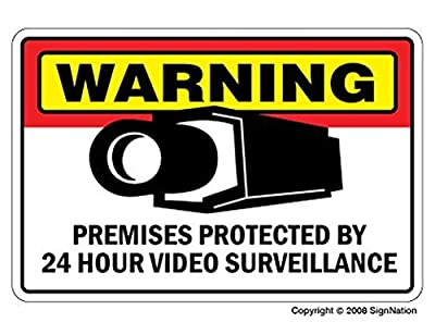 SECURITY SURVEILLANCE SIGNS Sign burglar video warning