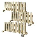 ミニ 木製ピケットフェンス幅120cm-ナチュラル-3個セット(受注製作) 小型犬用 サークル 手作り ウッドフェンス 犬 ペット 屋外 仕切り ゲート