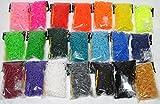 Amazon.co.jp【560kick-toy】 ルーム バンド 用 ゴム ノーマル 21色セット ゼリー タイプ 9色 セット 2種類 (ノーマルタイプ 21色 12600本セット)