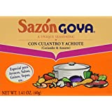 Goya Foods Sazon Culantro y Achiote, 1.41-Ounce (Pack of 3)