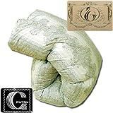 国産 羽毛布団 ダブル マザーグース1.7kg 7年保証 ダウンパワー400dp以上/かさ高165mm以上 ロイヤルゴールドラベル 製品保証書付 グリーン