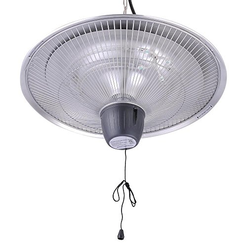 Triprel Inc. Electric Patio Infrared Outdoor Ceiling Heater Indoor fire Tent Hanging 1500W - SILVER (Tent Heater Indoor compare prices)