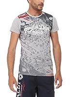 Rivaldi Camiseta Manga Corta Mentalsyl (Gris / Blanco / Rojo)