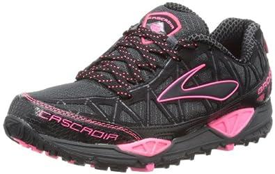 Brooks Womens Cascadia 8 W Running Shoes 1201271B837 Iron/Black/Brite Pink 7 UK, 40.5 EU, 9 US