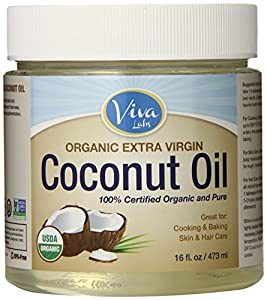 Viva Labs Organic Extra Virgin Coconut Oil, 16 Ounce