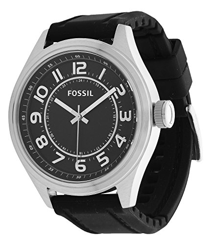 Fossil BQ1045 - Reloj para hombres, correa de silicona color negro