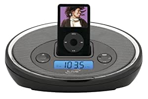 ilive icr6307dtblk ipod docking system with digital tune am fm stereo dual alarm. Black Bedroom Furniture Sets. Home Design Ideas