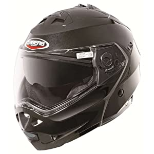 Caberg Duke Flip Front Motorcycle Helmet Metallic Black Medium (57-58cm)