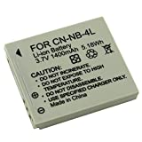 BestDealUK Cnnb4L Camera Replacement Battery For Canon Digital Ixus 30 40 50 55 60 65 70 75 80 I Zoom I7