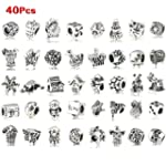 SODIAL(R) 40 Pc Antique Silver Plated...