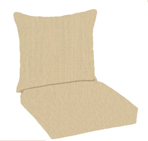 Paradise cushions indoor outdoor deep seating pillow back with hinged seat sand furniture furniture - Hinged outdoor cushions ...