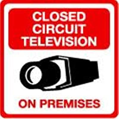 Security Sign - #203 1 Video CCTV Security Surveillance Camera System Warning Sign - Commercial Grade