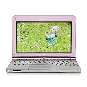 Toshiba Mini NB205-N313/P 10.1-Inch Posh Pink Netbook - 9 Hour Battery Life