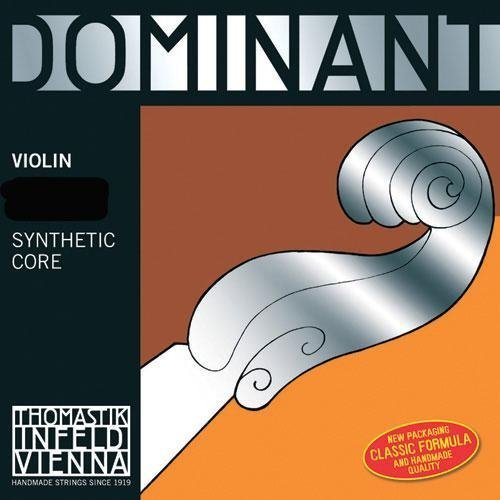 Thomastik Infeld Dominant Violin String Set With Wound E String Ball End - 3/4 Size - Medium Gauge front-176252