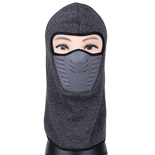 VBIGER アウトドア フェイスマスク 帽子 メンズ レディース 自転車 バイク用 フリース 防風 防寒 防塵 ネックウォーマー (ダークグレー)