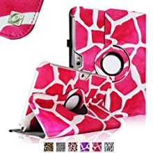 Fintie (Giraffe Magenta) 360 Degrees Rotating Stand Case Cover for Samsung Galaxy Note 10.1 inch Tablet N8000...