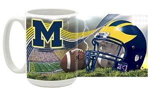 NCAA Michigan 15-Ounce Stadium Series Ceramic Mug by Mug World